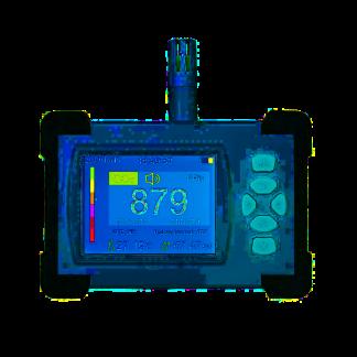 3-in-1 CO2 meter binnen - Luchtvochtigheidsmeter - Hygrometer - Luchtkwaliteitmeter - Met alarmfunctie - Oplaadbaar - Draadloos